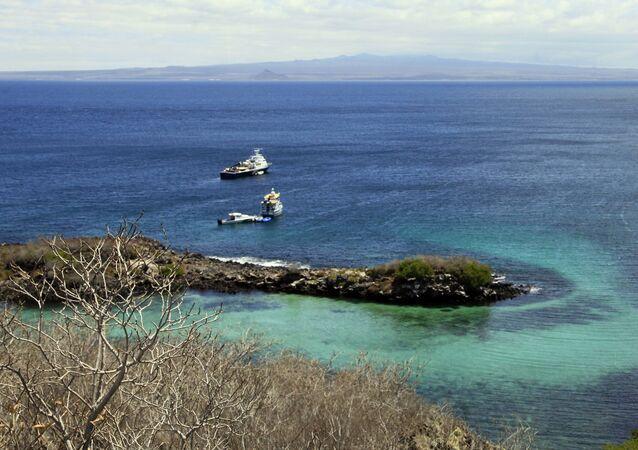 Widok na Wyspy Galapagos