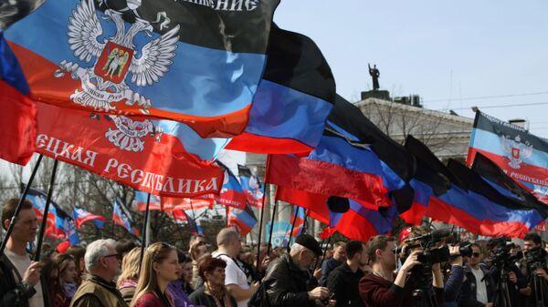 Miting na cześć rocznicy proklamowania DRL w Doniecku - Sputnik Polska