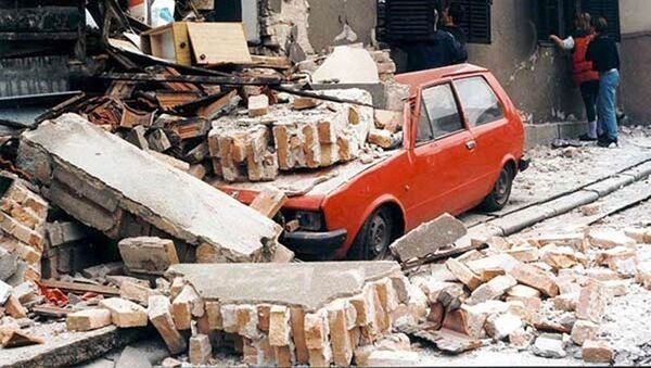 Belgrad po bombardowaniu NATO - Sputnik Polska