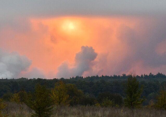Pożar składów amunicji pod Czernihowem
