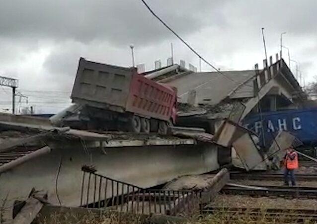 Zawalił się most na głównej trasie Kolei Transsyberyjskiej