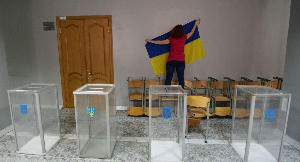 Lokal wyborczy w Kijowie