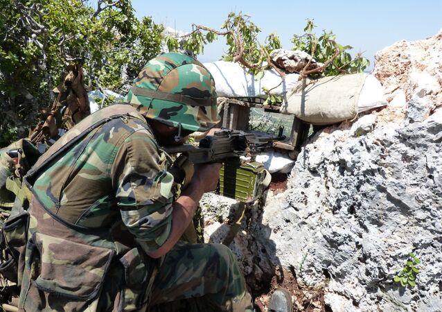 Walka z terrorystami na północy Syrii