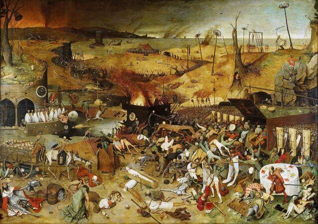 Obraz Triumf śmierci Pietera Bruegela (starszego)