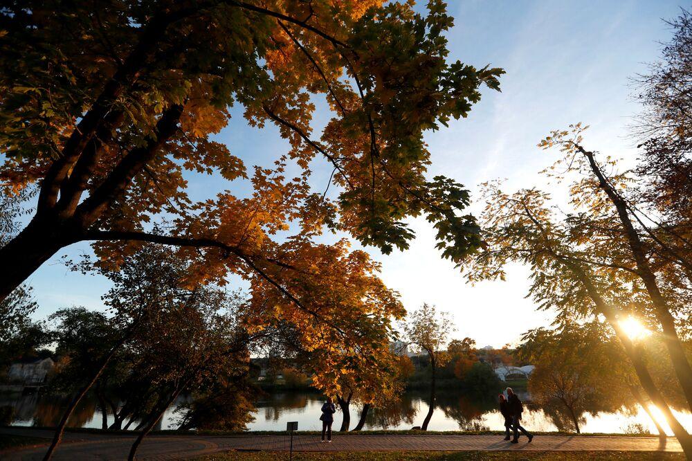 Park w Mińsku, Białoruś