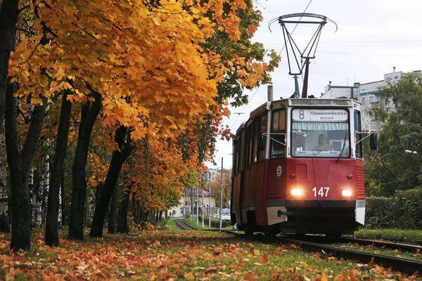 Tramwaj na jednej z ulic Wołogoda - Sputnik Polska