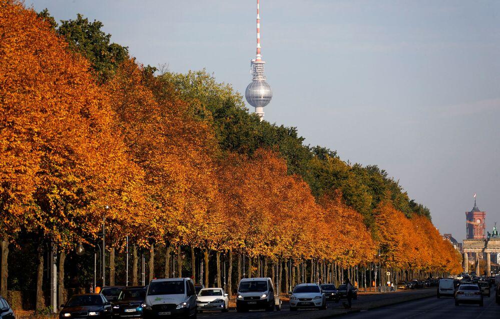 Dzielnica Berlina w jesiennych barwach, Niemcy