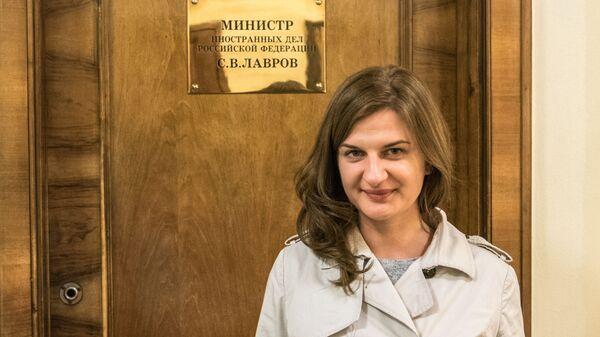 Polska dziennikarka Agnieszka Piwar w MSZ Rosji. Moskwa. - Sputnik Polska