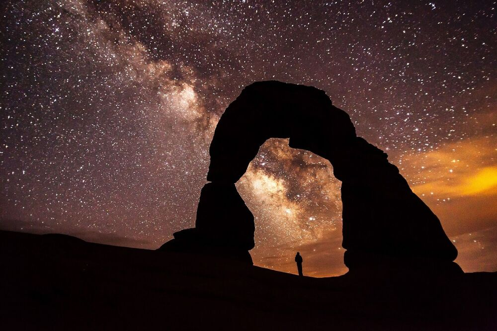 Droga Mleczna widoczna w USA