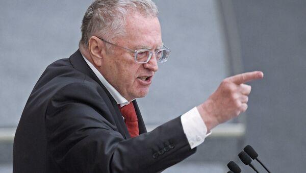 Lider Liberalno-Demokratycznej Partii Rosji Władimir Żyrinowski - Sputnik Polska