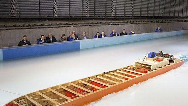 Testy modelowe lodołamacza Lider - Sputnik Polska