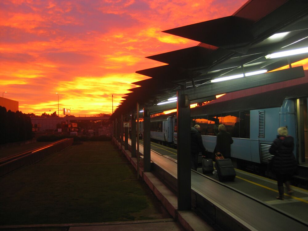 Stacja kolejowa Christchurch w Nowej Zelandii
