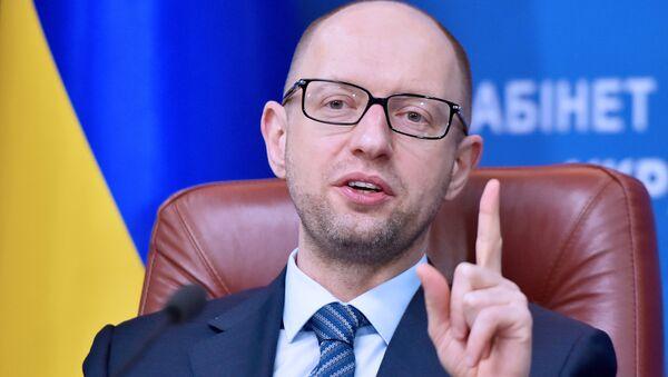 Premier Ukrainy Arsenij Jaceniuk - Sputnik Polska
