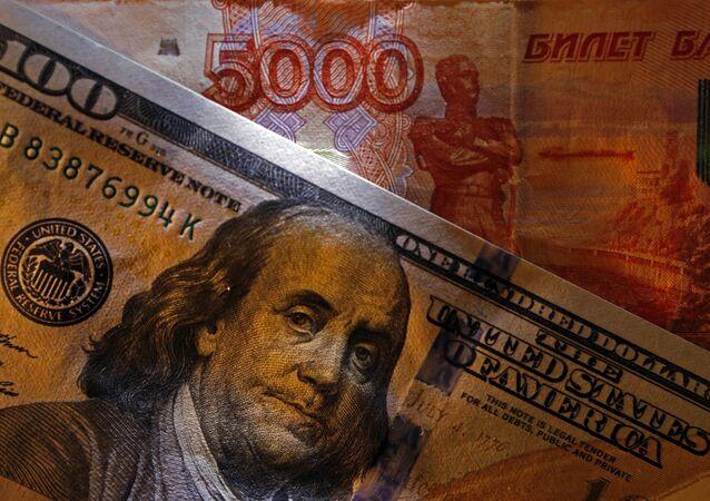 Amerykańskie i rosyjskie banknoty