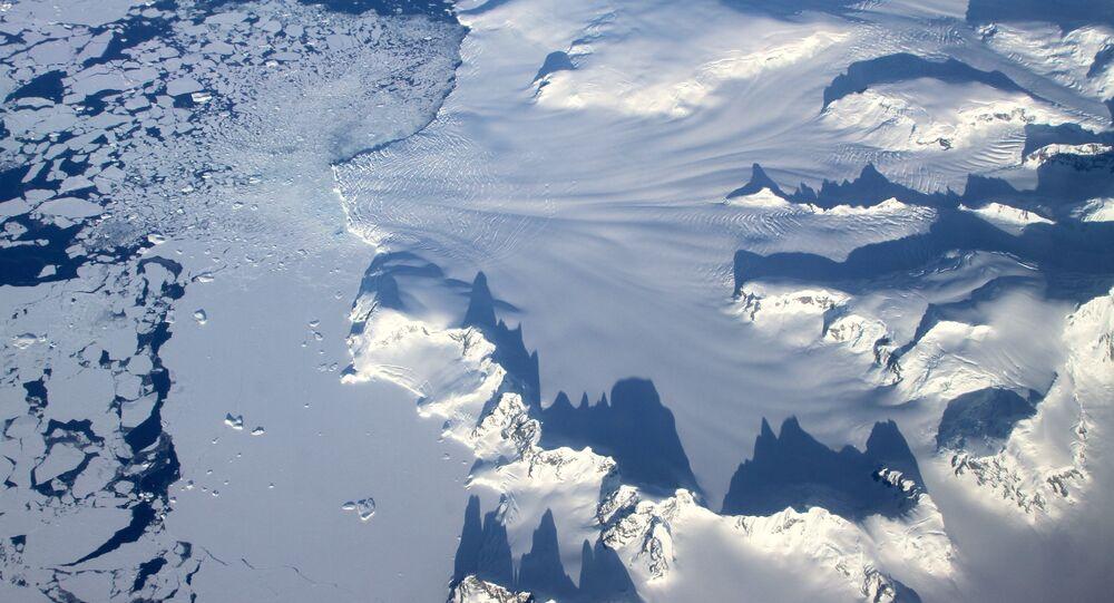 Lodowiec na Antarktydzie