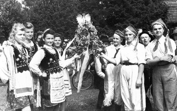 Dożynki w Świebodzinie, 1947 rok - Sputnik Polska