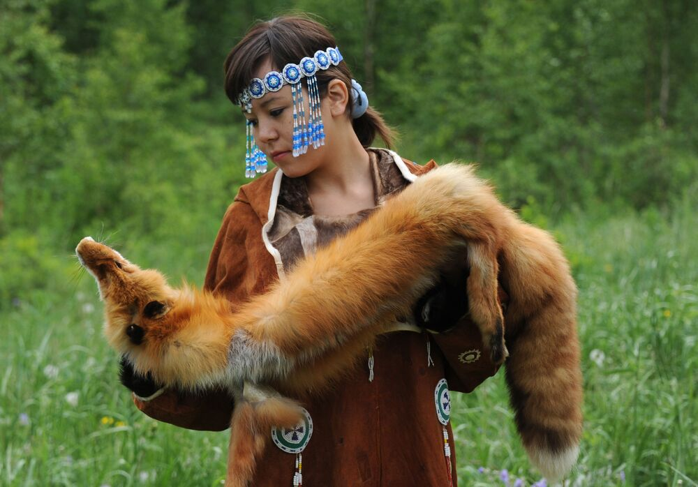 Dziewczyna narodowości koriackiej
