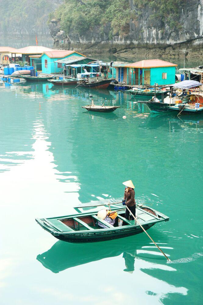 Wietnamka w wiosce rybackiej