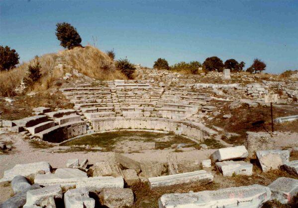 Ruiny amfiteatru w Troi, Turcja - Sputnik Polska