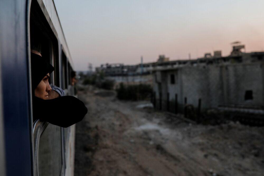 Syryjka w pociągu