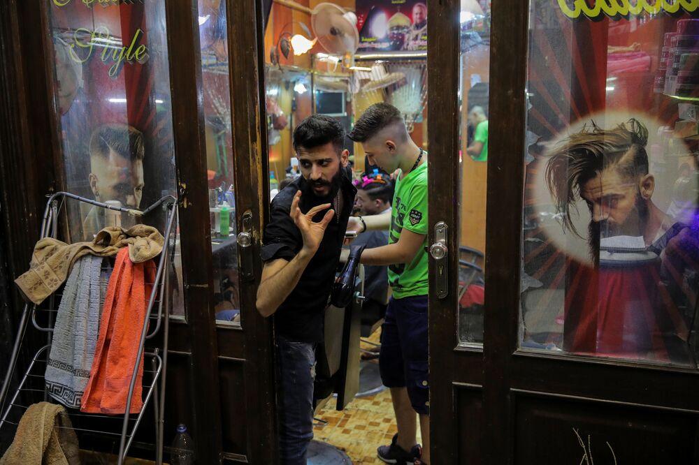 Salon fryzjerski w Damaszku