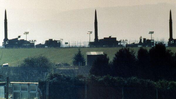 Amerykańskie pociski Pershing II w bazie USA w Niemczech, 1987 r. - Sputnik Polska
