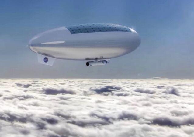Sterowce misji załogowej HAVOC w górnych warstwach atmosfery Wenus