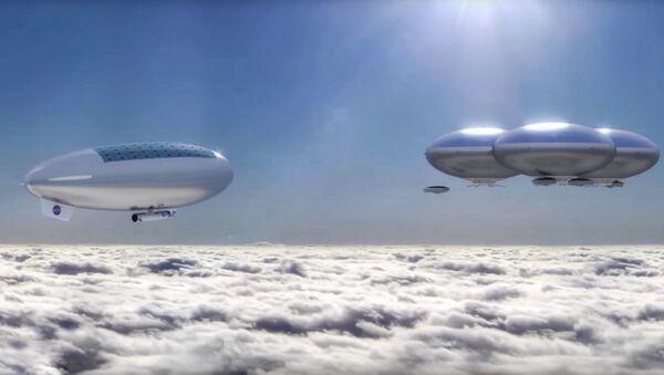 Sterowce misji załogowej HAVOC w górnych warstwach atmosfery Wenus - Sputnik Polska