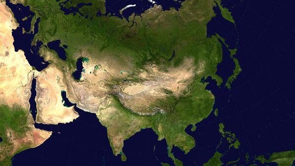 Zdjęcie Eurazji z kosmosu - Sputnik Polska