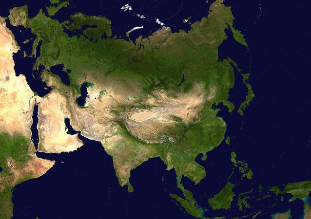 Zdjęcie Eurazji z kosmosu