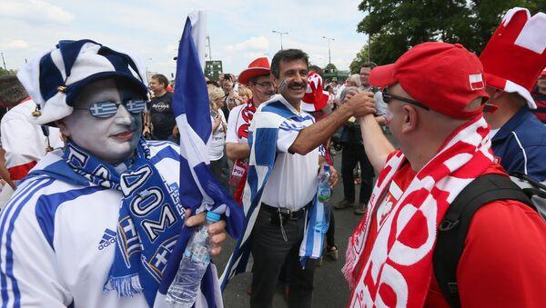 Polscy i greccy kibice - Sputnik Polska