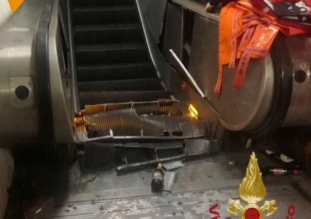 Awaria schodów ruchomych w Rzymie