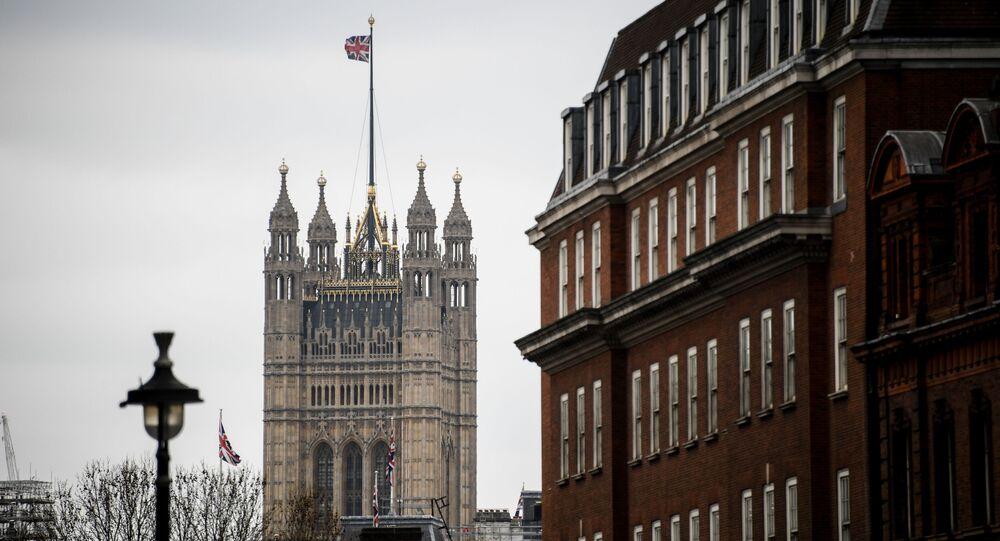Victoria Tower Pałacu Westminsterskiego w Londynie