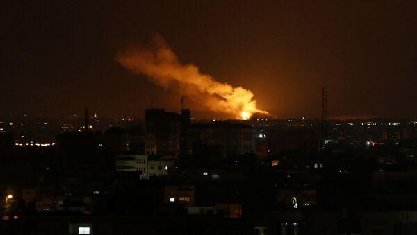 Izraelskie ataki na Strefę Gazy - Sputnik Polska