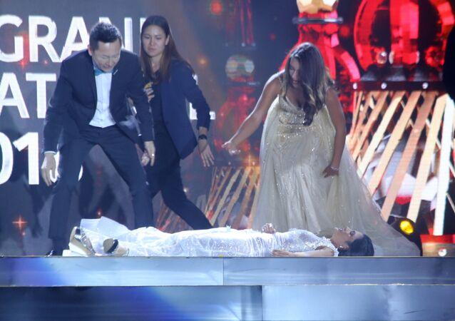 Zwyciężczyni konkursu piękności zemdlała na scenie