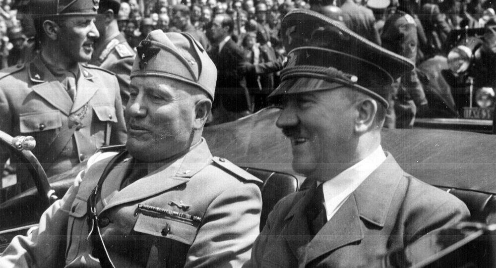 Adolf Hitler i Benito Mussolini w Monachium, 1940 rok