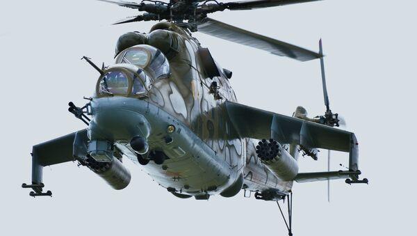 Mi-24 – ciężki śmigłowiec bojowy opracowany w Związku Radzieckim  - Sputnik Polska