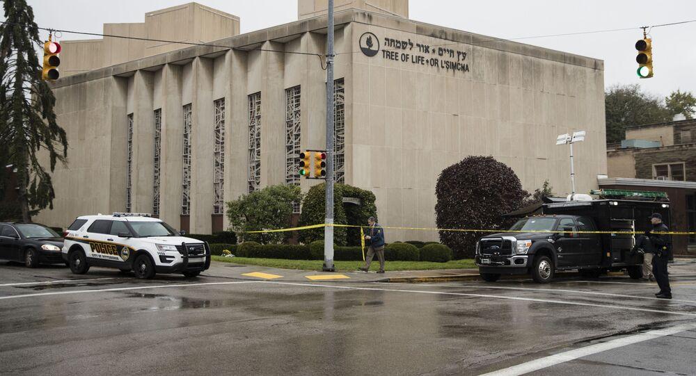 Policja na miejscu strzelaniny w Pittsburghu