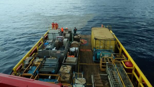 Prace ratunkowe na miejscu katastrofy samolotu Lion Air flight JT610 w Indonezji - Sputnik Polska