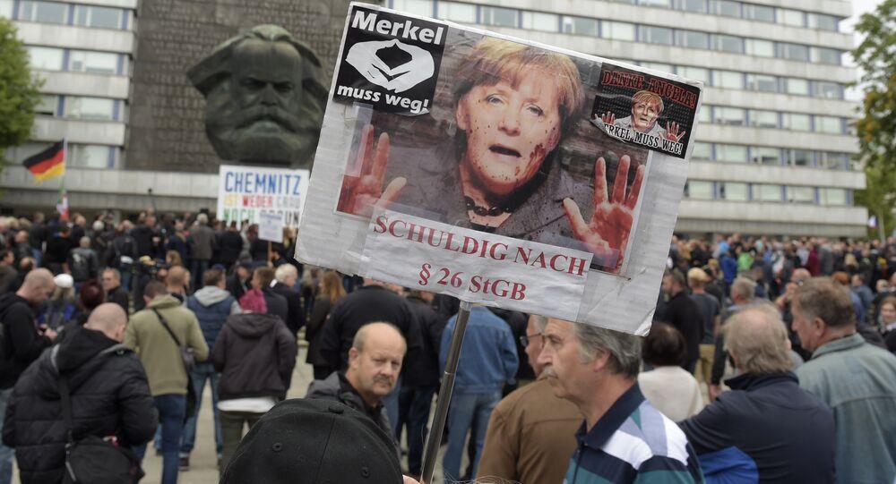 Protesty przeciwko Angeli Merkel