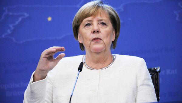 Kanclerz Niemiec Angela Merkel na 12. szczycie ASEM w Brukseli - Sputnik Polska