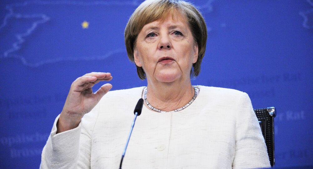 Kanclerz Niemiec Angela Merkel na 12. szczycie ASEM w Brukseli