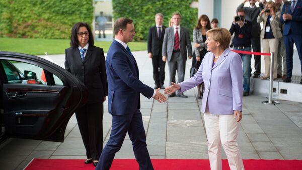 Wizyta prezydenta Polski Andrzeja Dudy w Berlinie  - Sputnik Polska