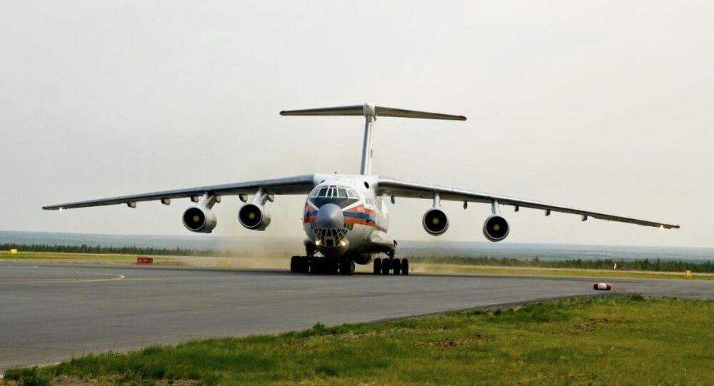 Rosyjski samolot transportowy Ił-76