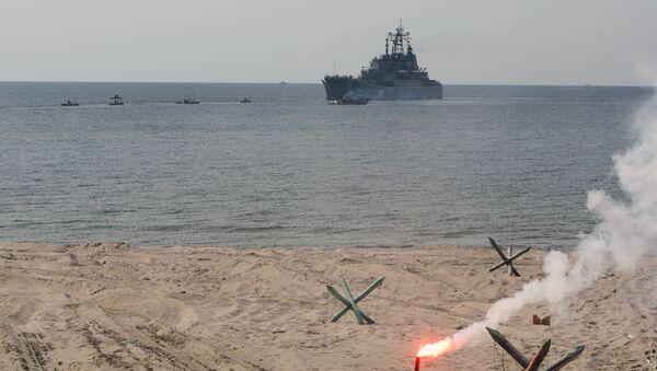 Manewry Floty Bałtyckiej w obwodzie kaliningradzkim - Sputnik Polska