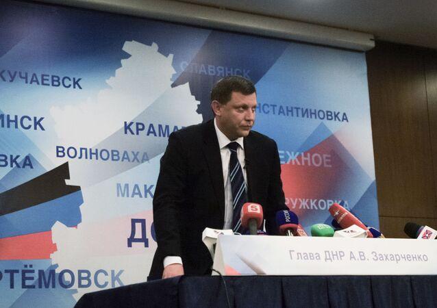 Szef Donieckiej Republiki Ludowej Aleksander Zacharczenko