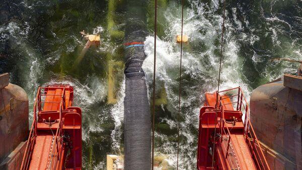 Układanie gazociągu Nord Stream 2 w Zatoce Fińskiej - Sputnik Polska