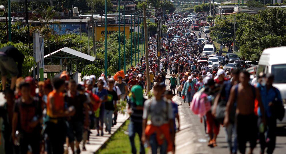 Karawana migrantów, Meksyk-USA