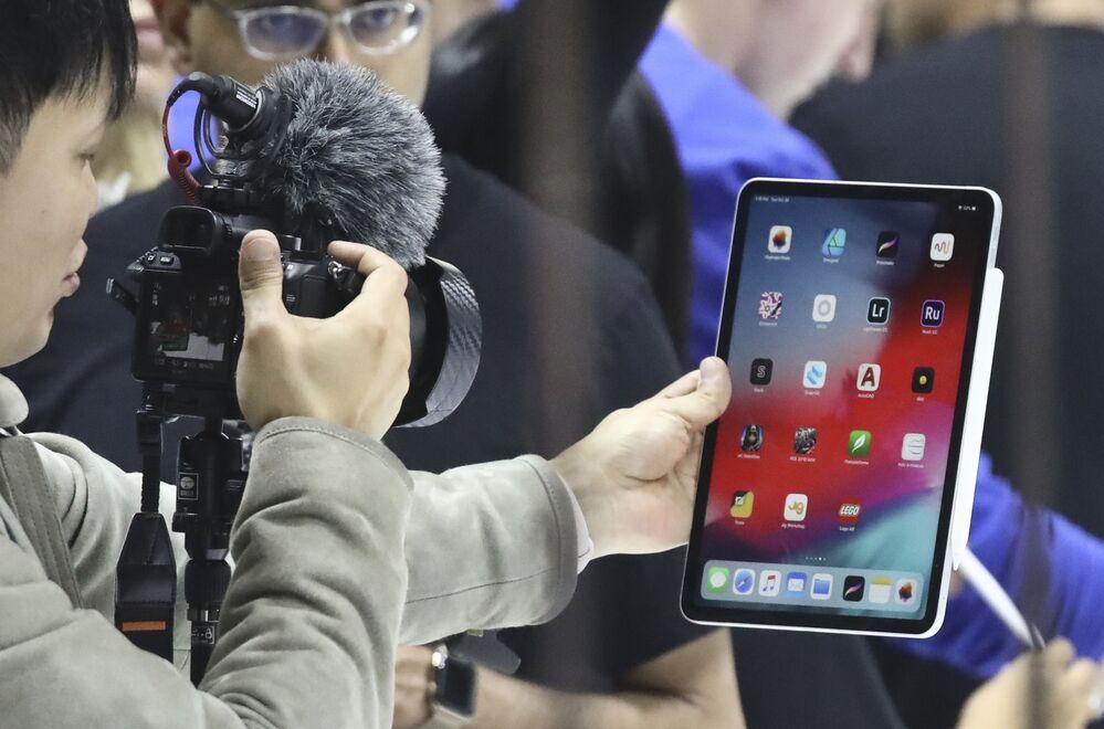 Nowy iPad Pro podczas prezentacji produktów Apple w Nowym Jorku