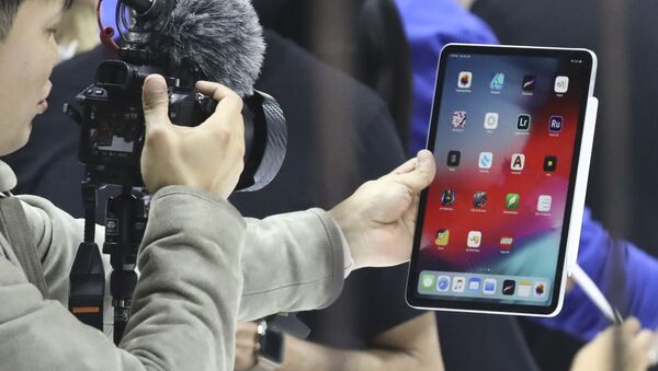 Nowy iPad Pro podczas prezentacji produktów Apple w Nowym Jorku   - Sputnik Polska